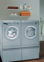 Ariston�AW129NA 24in Washer, Electric Dryer AS65VXSNA Stackable, Platinum