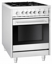 Fagor RFA244DF 24in Dual Fuel Range 2.0 cu. ft. 4 Sealed Burners Dual Fan Convection Oven
