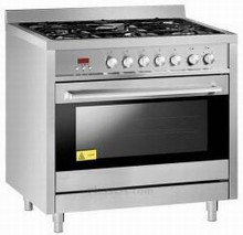 Fagor RFA365DF 36in Dual Fuel Range 3.7 cu. ft. 5 Sealed Burners, 3.7 cu. ft. Dual Fan Convection Oven
