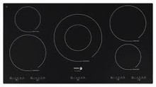 Fagor IFA90BF 36in Induction Cooktop 5 Cooking Zones, 12 Cooking Settings, 3 Quick Launch Commands
