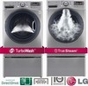 LG WM3570HVA Energy Star Steam Washer 5.0 Cu. Ft. and LG DLEX3570V Electric Steam Dryer 7.4 Cu. Ft.