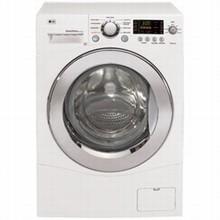 LG WM1377HW 24in Compact Washer 2.6 cu. ft., Internal Water Heater, 1400rpm, Direct Drive