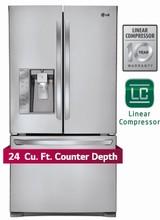 LG LFXC24726S 36in ENERGY STAR Counter-Depth French Door Refrigerator 24 cu. ft.
