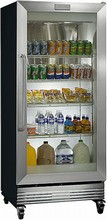 Frigidaire FCGM181RQB 32in  Commercial Glass Door Merchandiser Refrigerator 19.7 Cu. Ft.