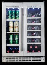 Silhouette DBC047D1BSSPR 24in Undercounter French door beverage center 4.7 cu. ft.,