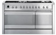 Smeg Opera A3XU6 48in Dual Fuel Range 5 Sealed Burners Dual Fan Convection Oven, Electric Grill