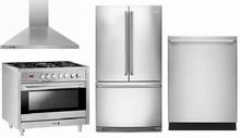 Electrolux EI23BC30KS 36in Counter-Depth French Door Refrigerator, Fagor RFA365DF 36in Duel Fuel Range