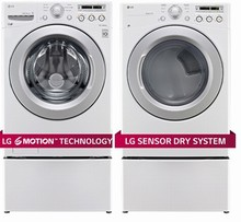 LG WM3170CW Energy Star Washer 5.0 Cu. Ft. and  DLG3171W GAS Dryer 7.4 Cu. Ft.Reversible Door Swing White