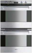 Smeg DOU330X Classic Aesthetic Series 30in Double Electric Wall Oven 4.34 cu.ft. Capacity per Oven