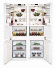 Blomberg 44in Energy Star Counter Depth Fully Integrated Side-By-Side Refrigerator Freezer 21.2 cu. ft.