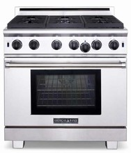 American Range ARR366ISN 36in Titan Series Pro-Style Step-Up Gas Range with 6 Sealed Burners, 6.0 cu. ft.