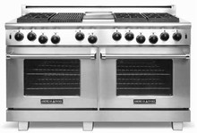 American Range ARROB660GDGRN Performer Series 60in Gas Range 25,000 BTU main Burner
