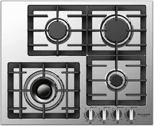 Fulgor Milano 400 Series F4GK24S1 24in Gas Cooktop 18,000 BTU, 4 European Sealed Burners