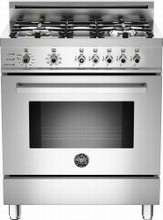 Bertazzoni Professional series PRO304GASX 30in Pro-Style Gas Range 4 Sealed Brass Burners