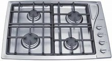 Scholtes TG304IXGHNA 30in Gas Cooktop with 4 Sealed Burners, Cast-Iron Continuous Grates