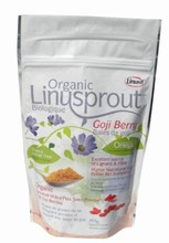 Organic Sprouted Flax + Goji Berries - 454g | NutraSprout