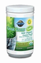 RAW ORGANIC GREAT GREENS Powder 240g - Garden of Life