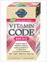 Vitamin Code - Raw B12 30 caps. - Garden of Life