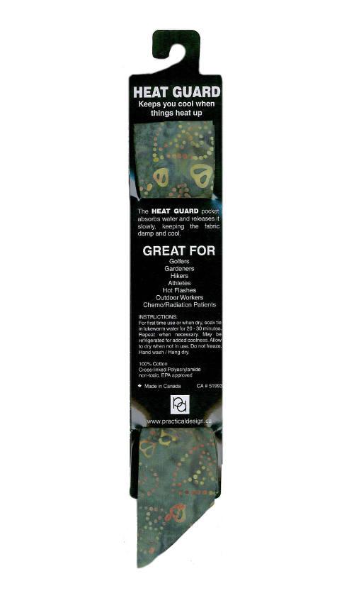 Cooling Tie - 338 Forest Swirl Batik