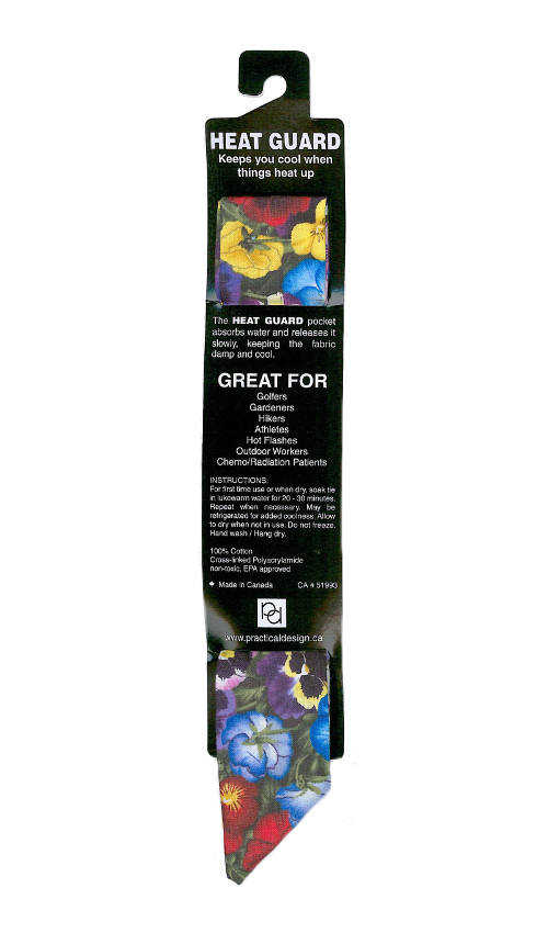 Cooling Tie - 434 Pansy Garden