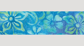 Cooling Tie - 442 Lime Blue Batik