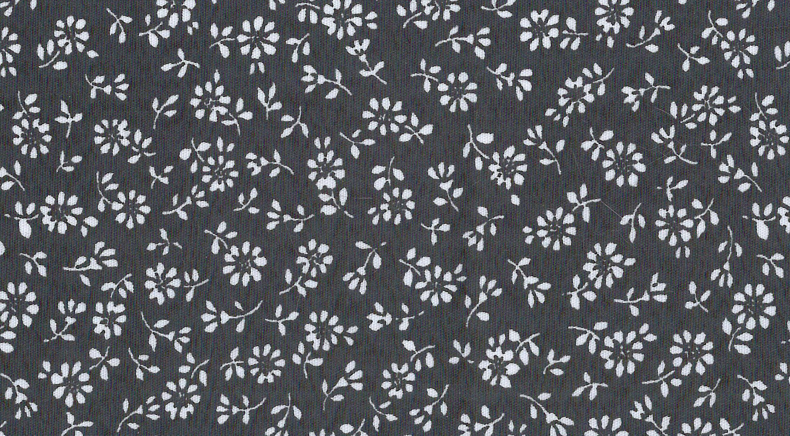 Cooling Tie - 491 Mini Black Flower