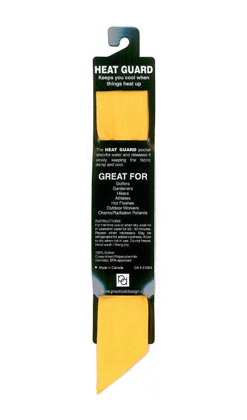 Cooling Tie - 525 Solid Yellow
