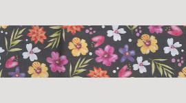 Cooling Tie - 565 Midnight Floral
