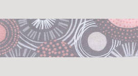 Cooling Tie - 568 Grey Pink Circles