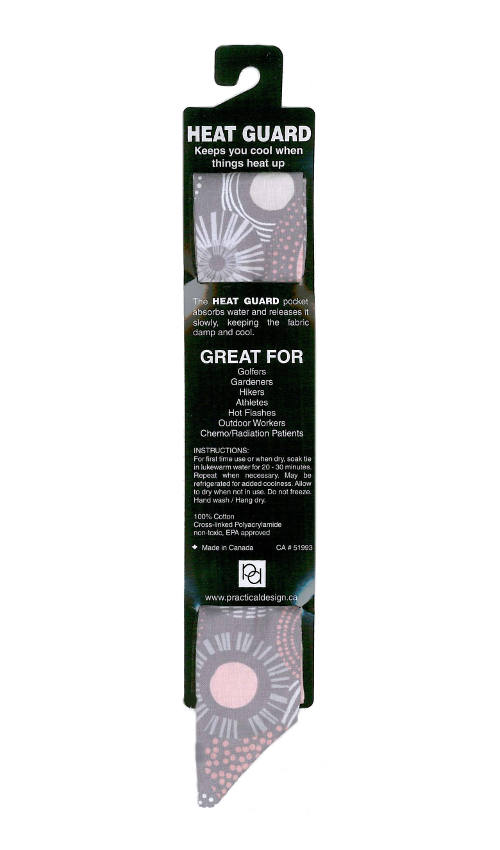 Cooling Tie - 568 Grey Pink Circles