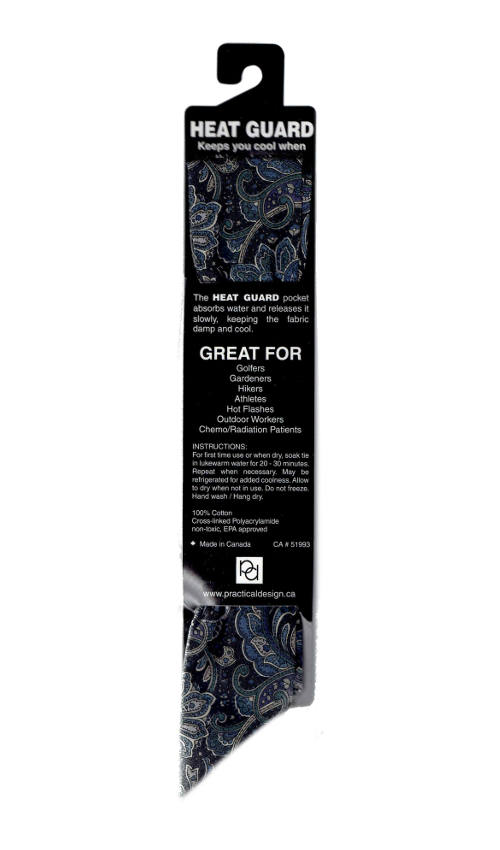 Cooling Tie - 582 Blue Paisley