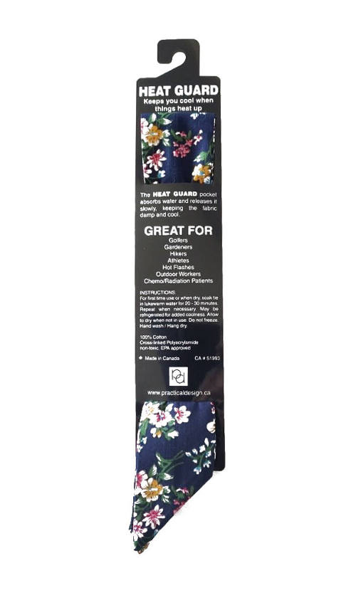 Cooling Tie - 603 Navy Freesia
