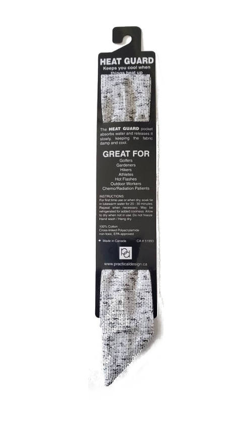 Cooling Tie - 605 Grey Burlap