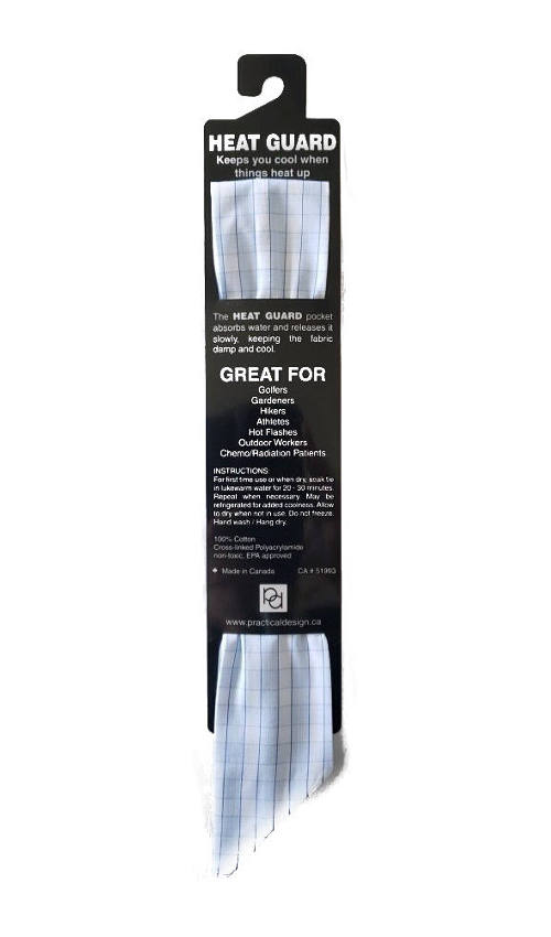 Cooling Tie - 606 Light Blue Check