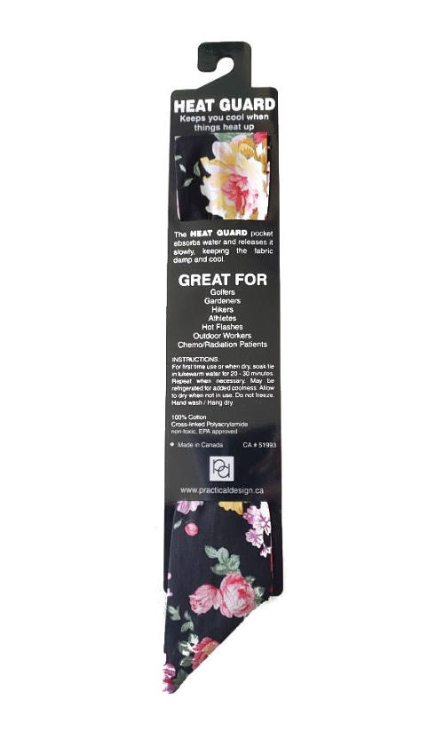 Cooling Tie - 607 Black Bouquet