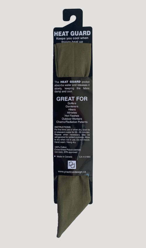Cooling Tie - 614 Olive Solid