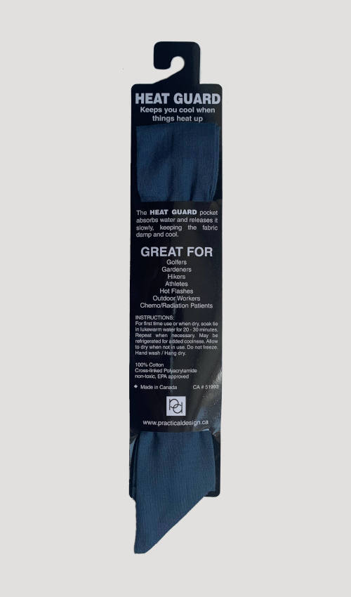 Cooling Tie - 616 Slate Solid