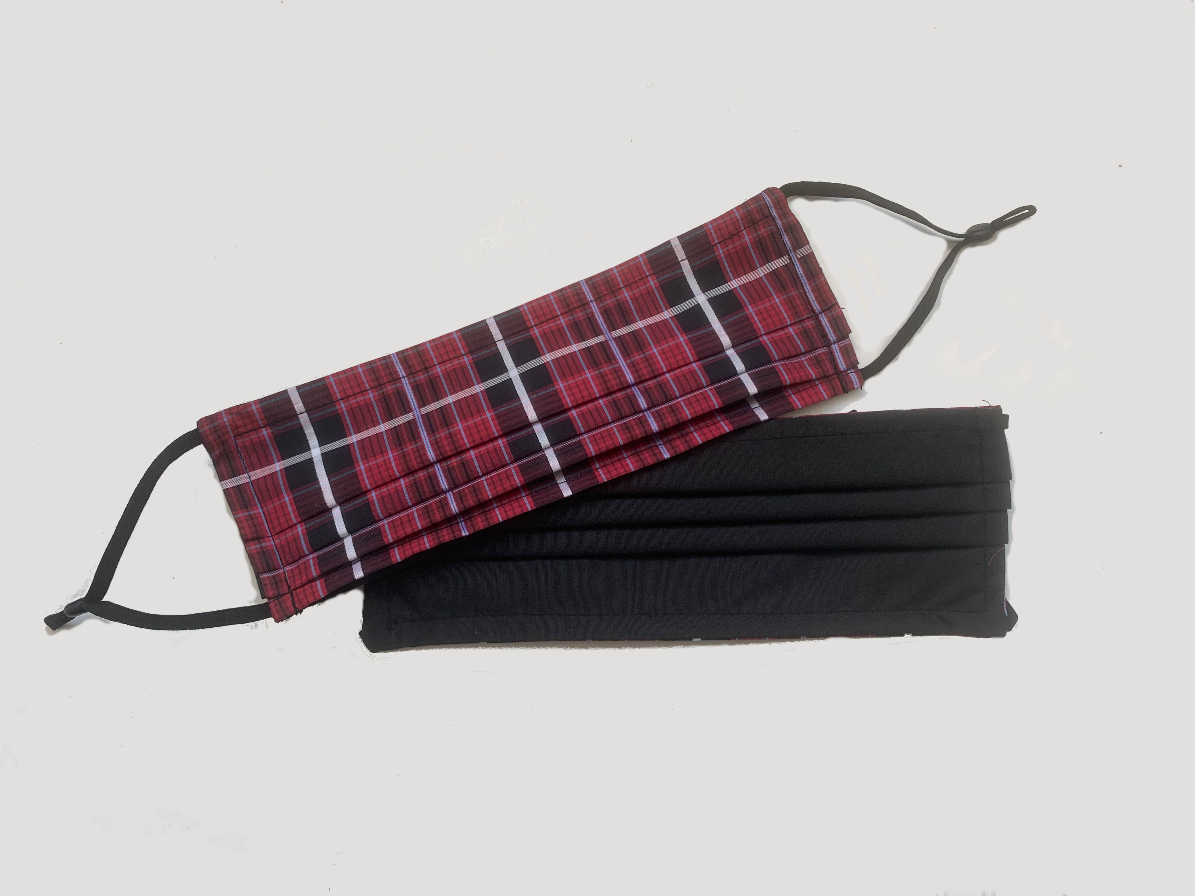 Face Mask - 639 Red Plaid