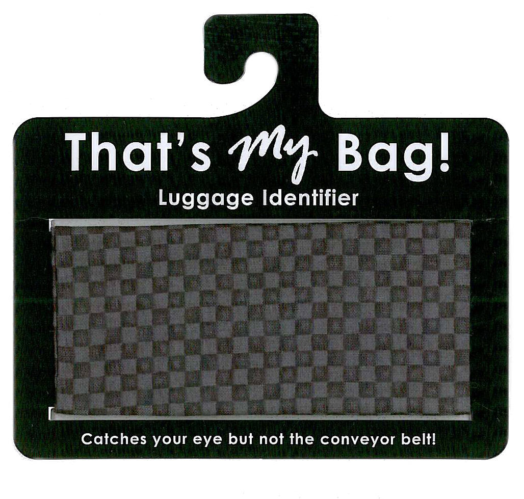 That's My Bag - L054 Black Checkers