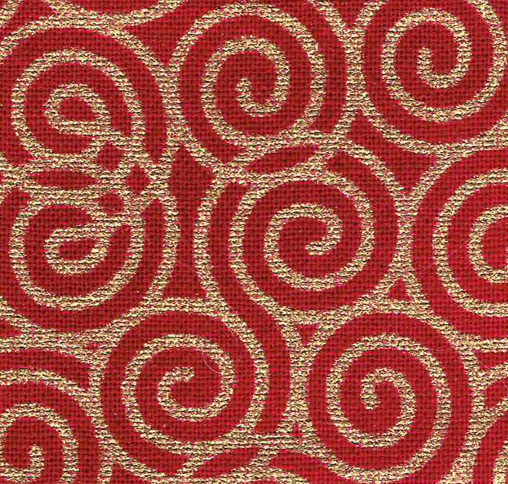 That's My Bag - L066 Red & Gold Swirls