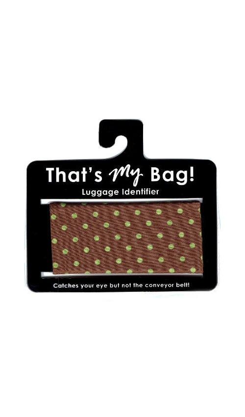 That's My Bag - L072 Green Dot on Brown